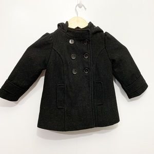 Old Navy Black Peacoat Button Up